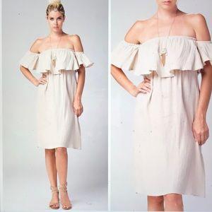 Dresses & Skirts - Off the shoulder Ruffle Dress